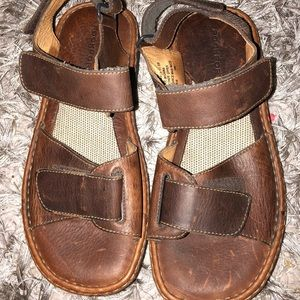 Rockport Walking Sandals Shoes Brown Leather Size
